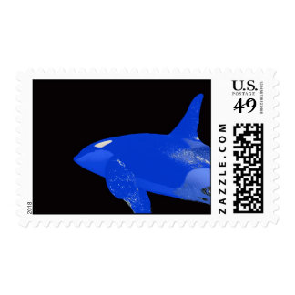 Blue Orca Stamp