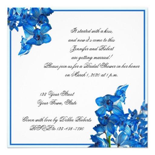 blue orchid bridal shower invitation 525quot square