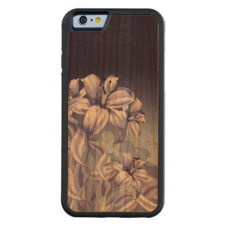 Blue Orchid Carved Cherry iPhone 6 Bumper Case