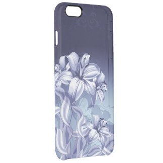 Blue Orchid Clear iPhone 6 Plus Case