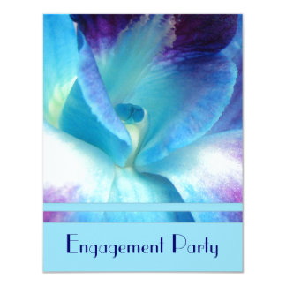 Blue Orchid Engagement Party Invitation