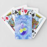 Blue Orchid Flower Card Decks