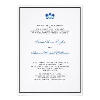 Blue Orchid Invitation