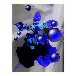 Blue Orchid Print