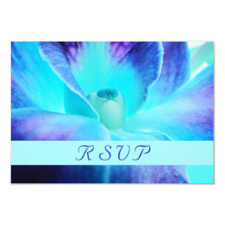 Blue Orchid RSVP Card