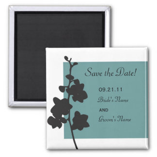 Blue Orchid Save the Date Magnet