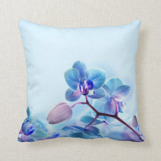 Blue Orchid Throw pillow cushion