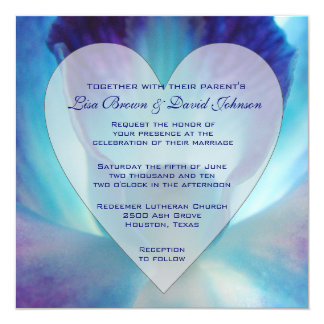 Blue Orchids Invitations Announcements Zazzle