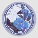 blue orchids 1 gift tags sticker