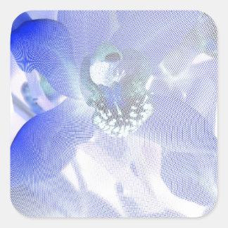 Blue Orchids April 2013 Square Sticker