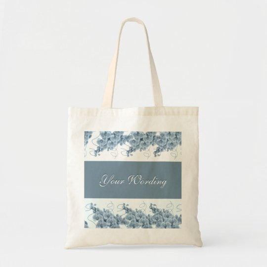 Blue orchids tote bags - customize
