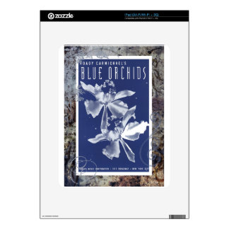 Blue Orchids Vintage Sheet Music Decals For iPad