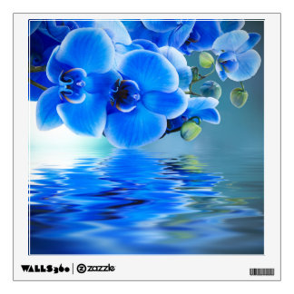 Blue Orchids Wall Decal
