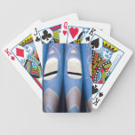 Blue Organ Pipes Bicycle Poker Cards