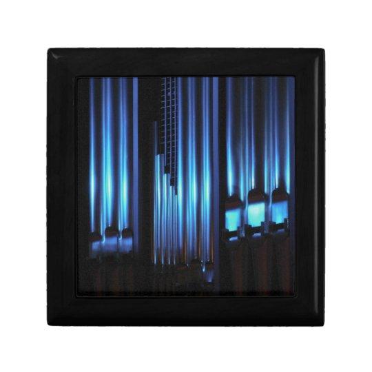 Blue organ pipes gift box