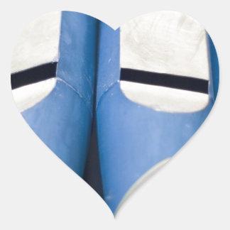 Blue Organ Pipes Heart Sticker