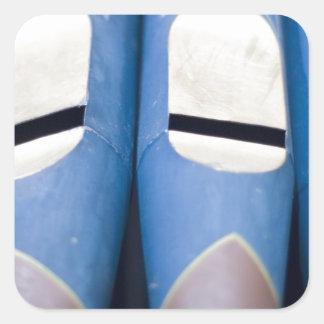 Blue Organ Pipes Square Sticker