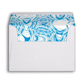 Blue organic abstract envelope