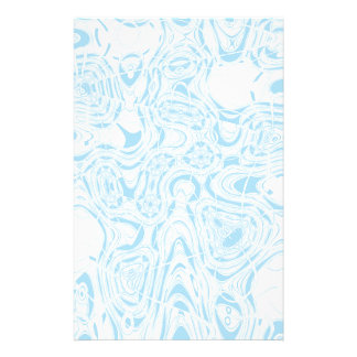 Blue organic abstract stationery