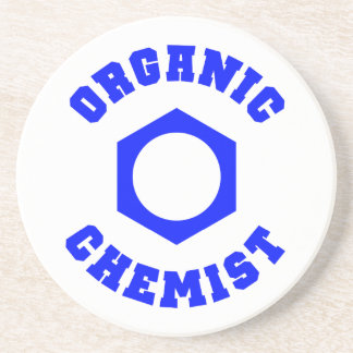 Blue Organic Chemist Coaster