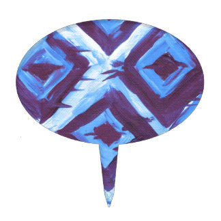Blue organic iKat Cake Toppers