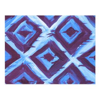 Blue organic iKat Postcard