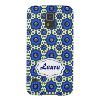 Blue oriental pattern tiles galaxy s5 cover