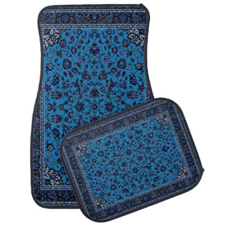 Blue Oriental Rug Look Car Mat Set