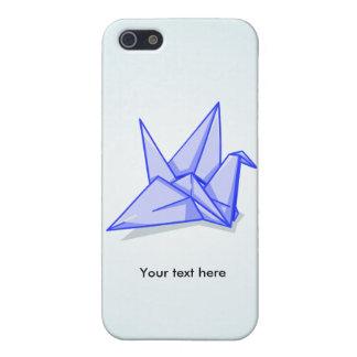 Blue origami crane iPhone SE/5/5s cover
