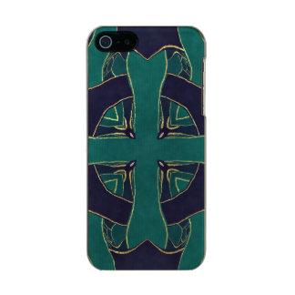 Blue Ornament Metallic Phone Case For iPhone SE/5/5s
