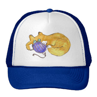 Blue Ornament Tumble by Kitty Cat Trucker Hats