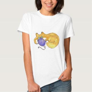 Blue Ornament Tumble by Kitty Cat T-Shirt