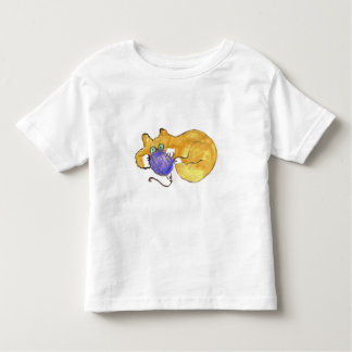 Blue Ornament Tumble by Kitty Cat Toddler T-shirt