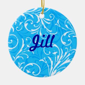 Blue Ornamental Name Ornament