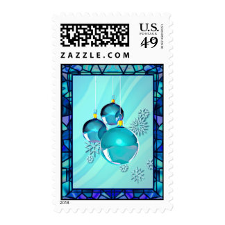BLUE ORNAMENTS & STAINED GLASS by SHARON SHARPE Stamps