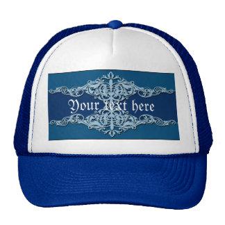 Blue Ornaments Trucker Hat