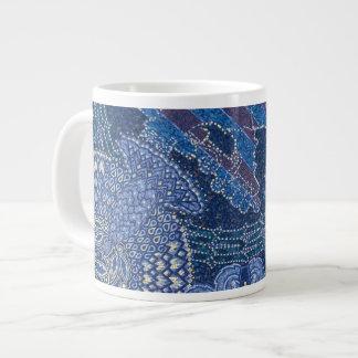 Blue Ornate Mosaic Art, Germany Giant Coffee Mug