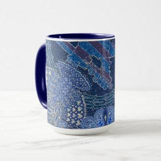 Blue Ornate Mosaic Art, Germany Mug