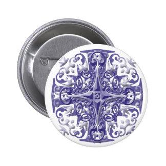 blue ornate pin