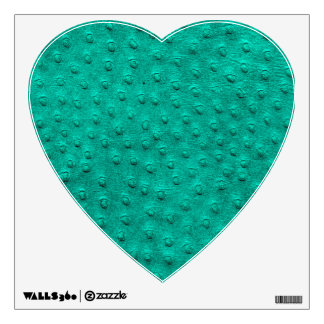 Blue Ostrich Leather Print Heart Wall Decal