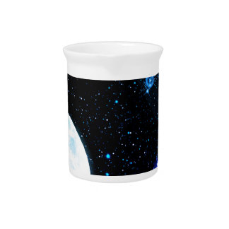 Blue Outer Space Beverage Pitcher
