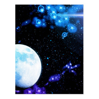 Blue Outer Space Postcard