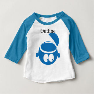 Blue Outline kids Baby T-Shirt