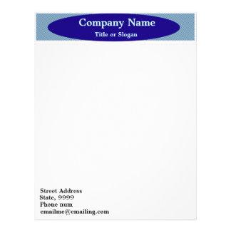 Blue Oval Banner Business Stationary Letterhead