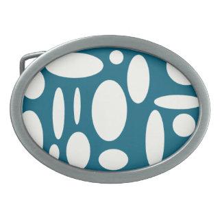 Blue Oval Buckle Belt Buckle