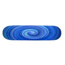 Blue Oval Swirl Pattern Skateboard