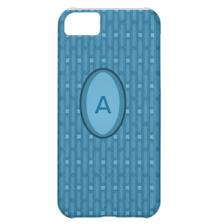 Blue Ovals Pattern Iphone 5 Case