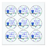 Blue Owl 6th Birthday Cupcake Toppers Custom Invites