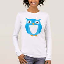 Blue Owl - Add Your Own Text Long Sleeve T-Shirt