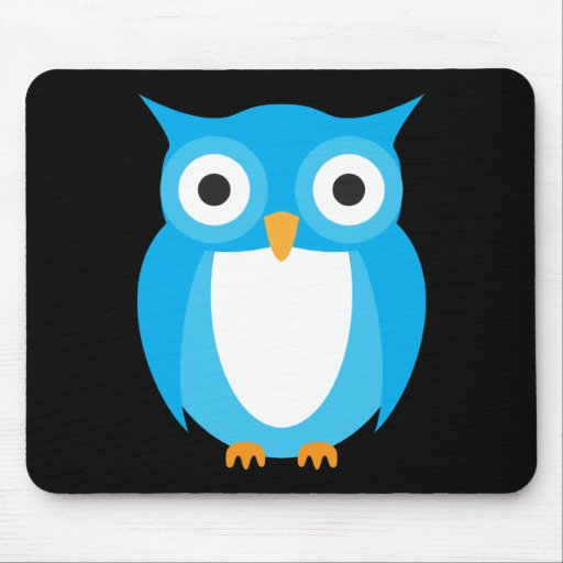 Blue Owl - Add Your Own Text Mouse Pad